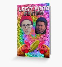 LEGIT FOOD REVIEW h3h3 idubbbz COLLAB  Greeting Card
