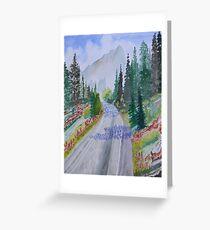 Biking The Mountains Greeting Card