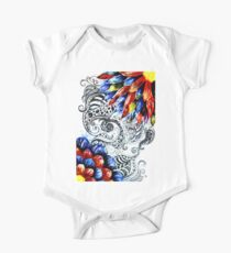 Grunge Acrylic Flowers Kids Clothes