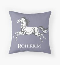 White horse of Rohan Throw Pillow