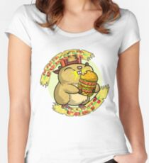 Hamster party Women's Fitted Scoop T-Shirt