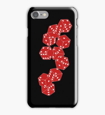 White Red Dice iPhone Case/Skin