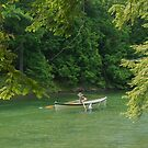 St. Lawrence River Guide Boat in Lover's Lane by David Galson
