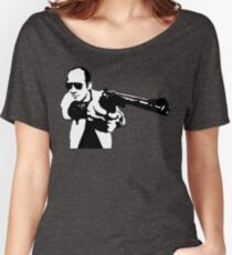 Hunter S Thompson - Gun - Large Women's Relaxed Fit T-Shirt