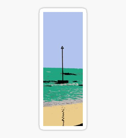artistic licence on the sea, summer sun and seaside  Sticker