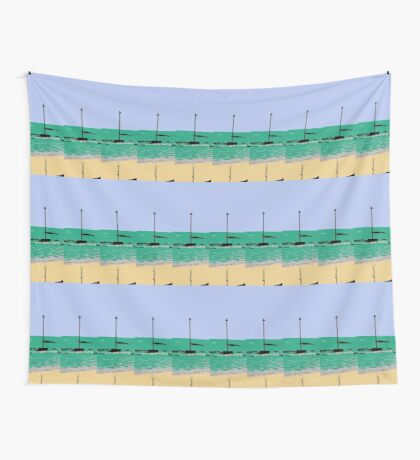 artistic licence on the sea, summer sun and seaside  Wall Tapestry