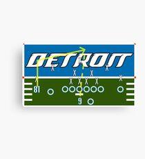 Detroit Touchdown Canvas Print