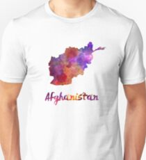 Afghanistan in watercolor Unisex T-Shirt