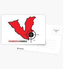 Vendetta Comics Reverse Logo Postcards