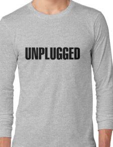 Unplugged Black Long Sleeve T-Shirt