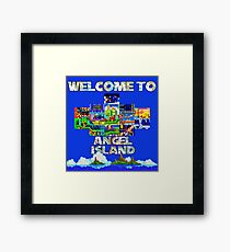 Welcome to Angel Island Framed Print