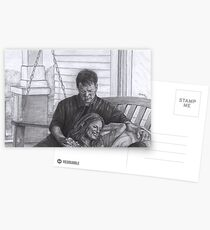 Castle and Beckett - Relax on the porch swing Postcards
