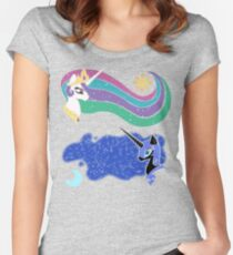 Princess Celestia and Nightmare Moon Fitted Scoop T-Shirt