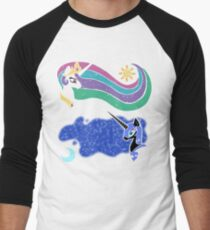 Princess Celestia and Nightmare Moon Baseball ¾ Sleeve T-Shirt