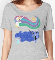 Princess Celestia and Nightmare Moon Relaxed Fit T-Shirt