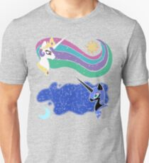 Princess Celestia and Nightmare Moon Slim Fit T-Shirt