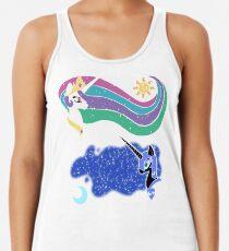 Princess Celestia and Nightmare Moon Racerback Tank Top