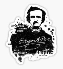 Edgar Allan Poe - Poe the Raven - The Following - Brilliant and Dark World of Poe Sticker