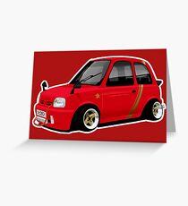Shakotan Nissan Micra K11 Greeting Card