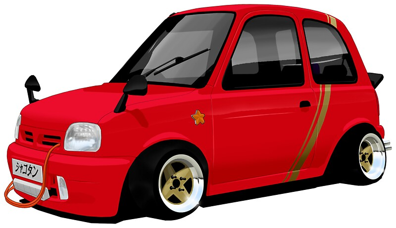 shakotan nissan micra k11 stickers by whygrowup redbubble. Black Bedroom Furniture Sets. Home Design Ideas