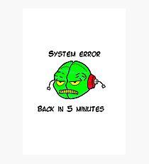 System Error Photographic Print