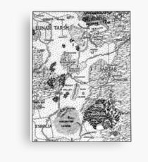 RQ2 DRAGON PASS Map (pairs with RQ2 PRAX Map) Canvas Print