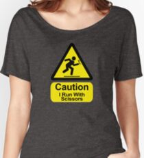 Funny - I Run with Scissors! Women's Relaxed Fit T-Shirt