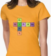 SCIENCE GIRL! - Periodic Elements Scramble Women's Fitted T-Shirt