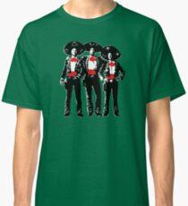 Three Amigos - Pop Art on Green Classic T-Shirt