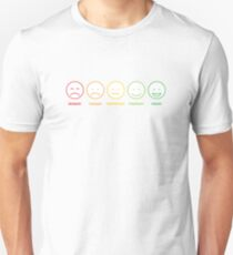 Colored funny faces Unisex T-Shirt