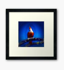 ©NS Bird Singing Paintography Framed Print