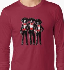 Three Amigos - Pop Art on Red T-Shirt