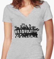 READVOLUTION Women's Fitted V-Neck T-Shirt