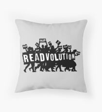 READVOLUTION Throw Pillow