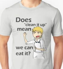 Can we eat it??? Slim Fit T-Shirt