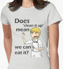 Can we eat it??? Women's Fitted T-Shirt