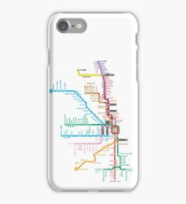 Chicago Trains Map iPhone Case/Skin