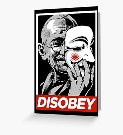 Disobey II Poster Version Greeting Card