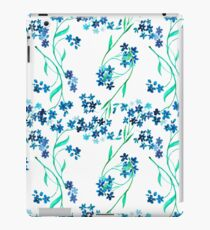 Watercolor blue flower. iPad Case/Skin