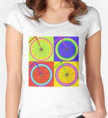 Fixie Pop  Women's Fitted Scoop T-Shirt