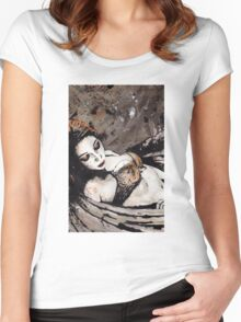 Paper Wings Turned Into Girl Women's Fitted Scoop T-Shirt