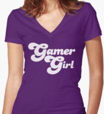 Gamer Girl Women's Fitted V-Neck T-Shirt