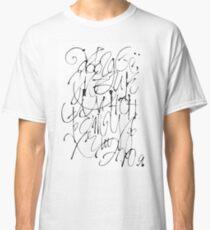 Russian calligraphic alphabet Classic T-Shirt