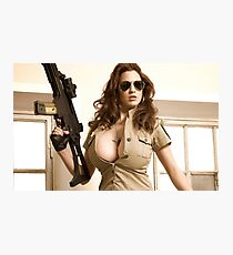 Army Girl Photographic Print