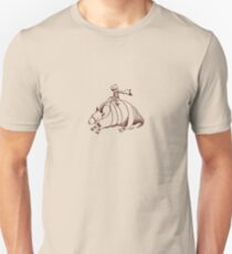 Armadillo and Boy (small Brown) Unisex T-Shirt