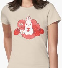 Strawbunny Delight Womens Fitted T-Shirt