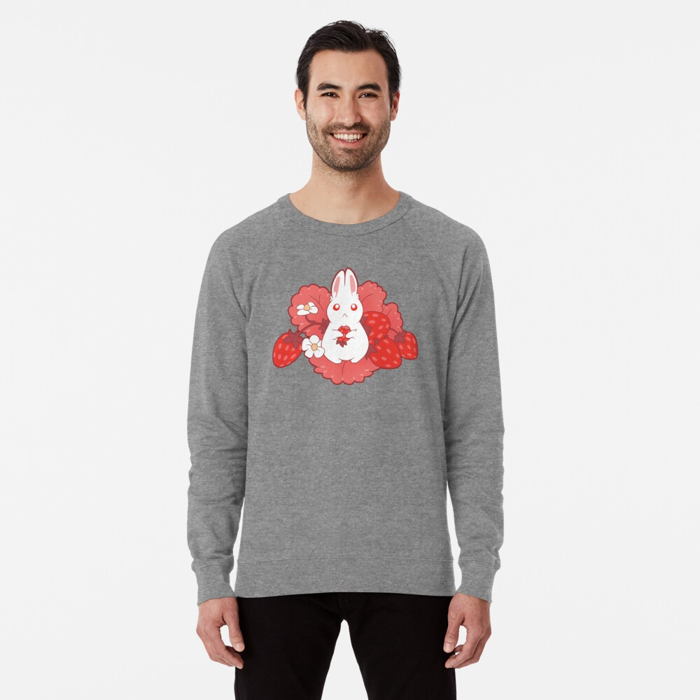 Strawbunny Delight Lightweight Sweatshirt