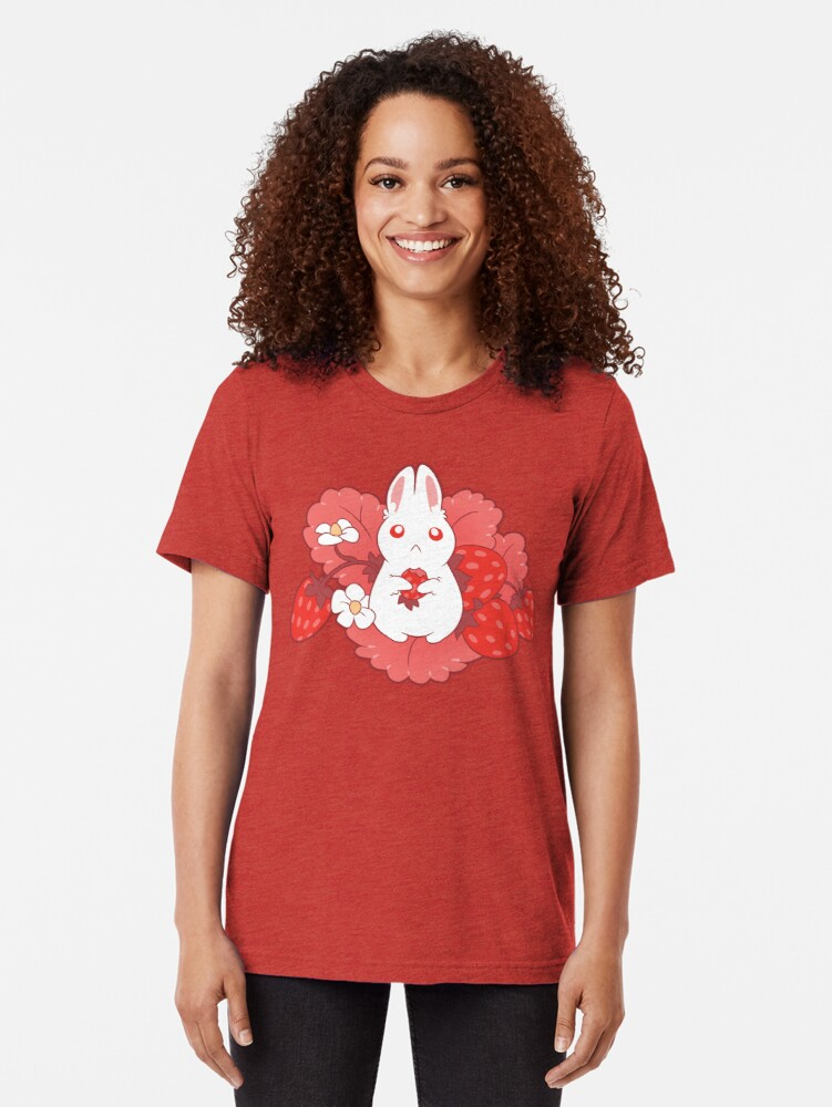 Alternate view of Strawbunny Delight Tri-blend T-Shirt
