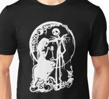 Nightmare Before Christmas - White On Black Unisex T-Shirt