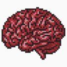 pixelated brain by masterizer
